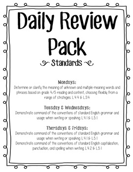 Daily Language Review Pack