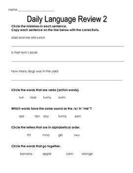 Daily Language Review Quizes