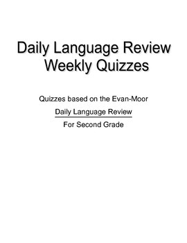 Daily Language Review 2nd Grade Worksheets & Teaching