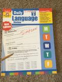 Daily Language Review Third Grade