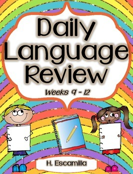 Daily Language Review - Week 9-12 in English