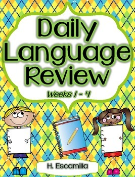 Daily Language Review - Weeks 1-4 in English