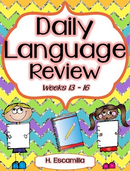 Daily Language Review - Weeks 13 - 16 in English