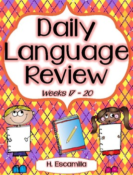 Daily Language Review - Weeks 17 - 20 in English
