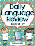 Daily Language Review - Weeks 21 - 24 in English