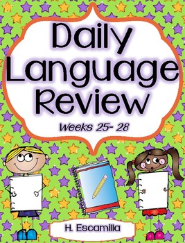 Daily Language Review - Weeks 25 - 28 in English