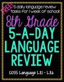 8th Grade Daily Language Spiral Review - 1 Week FREE