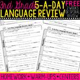 3rd Grade Daily Language Spiral Review- 1 Week FREE