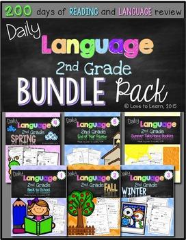 Daily Language Second Grade Bundle Pack