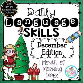 Daily Language Skills {December Morning Work}