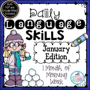 Daily Language Skills {January Morning Work}