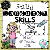 Daily Language Skills {May Morning Work} - Distance Learning