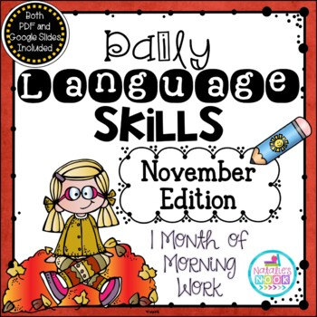 Daily Language Skills {November Morning Work}