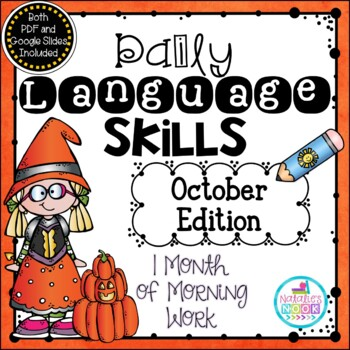 Daily Language Skills {October Morning Work}