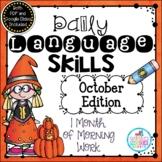 Daily Language Skills {October Morning Work}