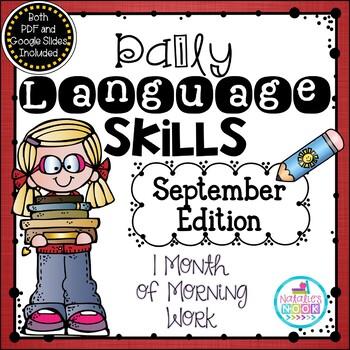 Daily Language Skills {September Morning Work}