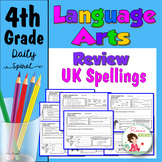 Daily Language Spiral Review Morning Work | Homework - 4th