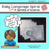 Daily Language Spiral With a Sprinkle of Science - 4th Gra