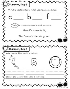 Daily Language Summer Take-Home Booklet First Grade