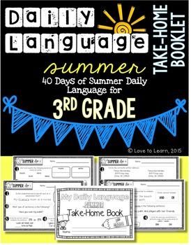 Daily Language Summer Take-Home Booklet Third Grade