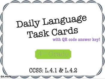 Daily Language Task Cards