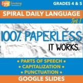 Digital Daily Language Set 1 - Paperless Morning Work 4th & 5th Grades