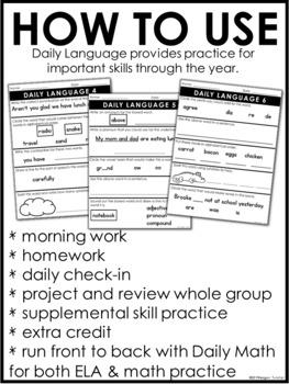 Daily Language Volume 2 Second Grade