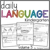 Daily Language Volume 5 Kindergarten