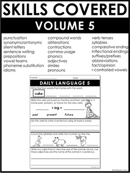 Daily Language Volume 5 Second Grade