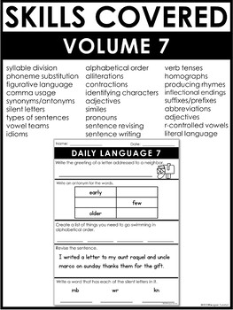 Daily Language Volume 7 Second Grade