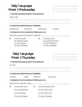 Daily Language Week 1