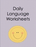 Daily Language Worksheets