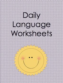 Daily Language Worksheets