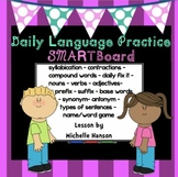 Daily Language and Grammar Practice for SMARTBoard