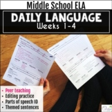 Daily Language Using Peer Teaching, Weeks 1-4