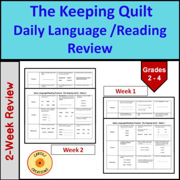 Daily Language/Reading Practice for The Keeping Quilt