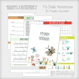 Daily Learning Notebook - Blooms & Butterflies