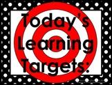 Polka-Dot Daily Learning Targets Bulletin Board Set