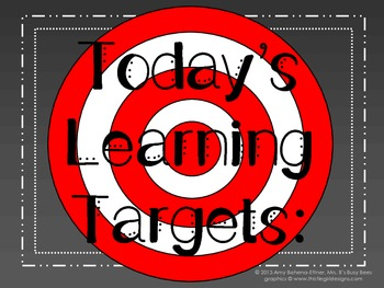 Daily Learning Targets Bulletin Board Set CHALKBOARD