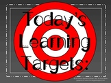 Daily Learning Targets Bulletin Board Set CHALKBOARD