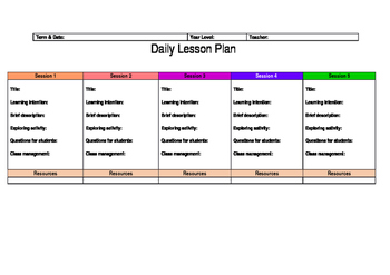 Daily Lesson Plan