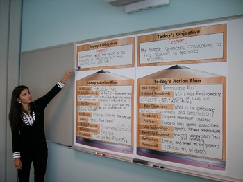 Daily Lesson Plan Display for Classroom Whiteboards