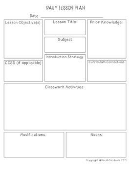 morning meeting lesson plan template - elementary special edventures teaching resources