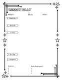 Daily Lesson Plan Template - Black and White