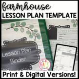 Editable Daily Lesson Plan Template Farmhouse Theme