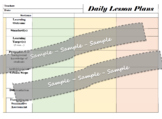 Daily Lesson Plan Template for 1 or 3 class sections