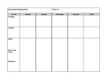 Daily Lesson Plan Templates