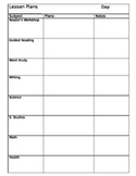 Daily Lesson Plan form (editable)