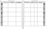 Daily Lesson Plan template (one subject)