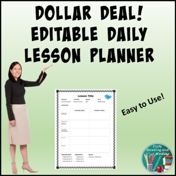 Daily Lesson Planner - EDITABLE